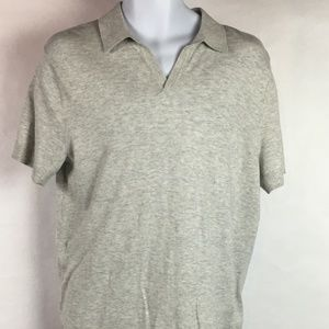 Banana Republic Men's Short Sleeve Shirt Gray
